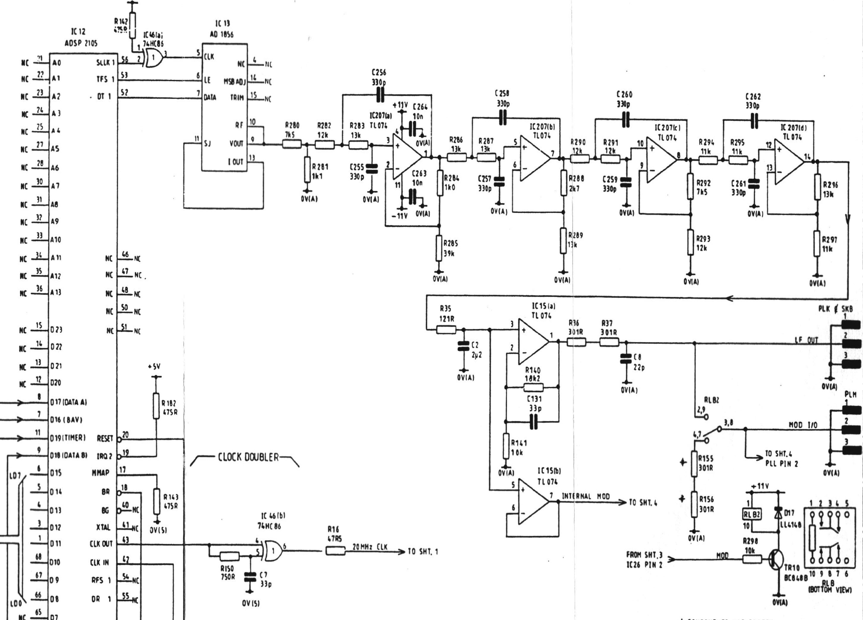 Quick Repair Project Marconi 2024 Page 1 Ve Used To Build This Circuitclick It For Higher Resolution Image Everything Is Together In Area Of The Board By Oxco Dsp A Analog Devices Adsp 2105 With An Ad1856 Serial Dac Op Amps Are Couple